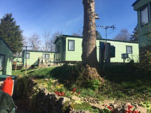 Park foot static caravan site